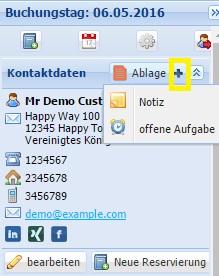 Kontakte / Kundenkartei
