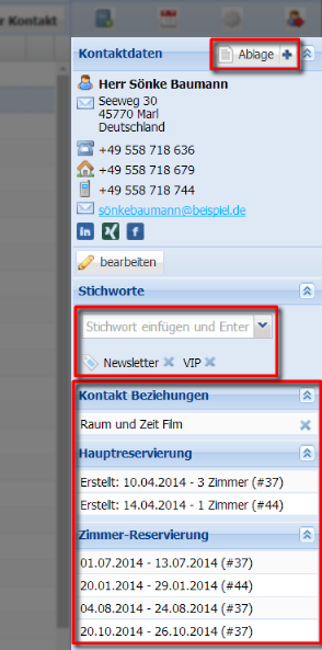 Einführung in die Kontaktverwaltung / CRM