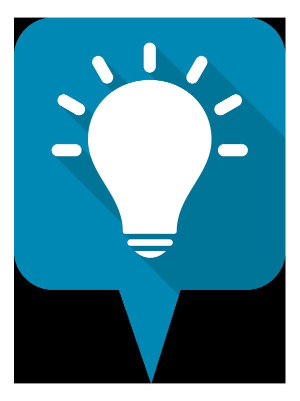 Referenzen Symbol Glühbirne