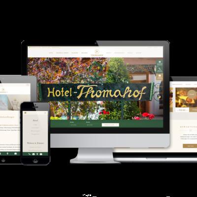Webseite Hotel Thomahof