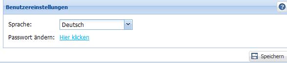 Wie stelle ich die Sprache der Software um?