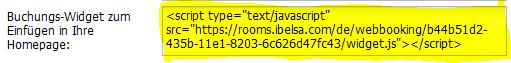 Wie binde ich die Webbuchung in meine Hotel Webseite an