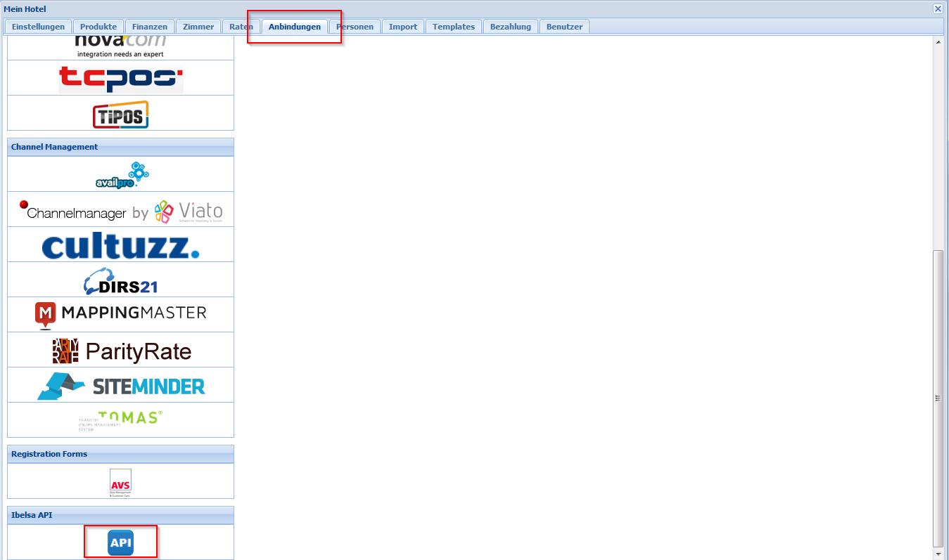 Wie kann ich einen APISchlüssel aus ibelsa.rooms zur Verfügung stellen
