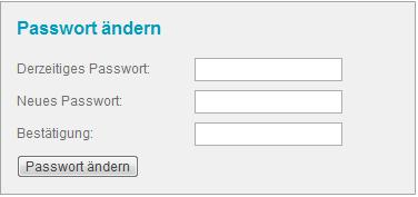 Wie kann ich mein Passwort ändern
