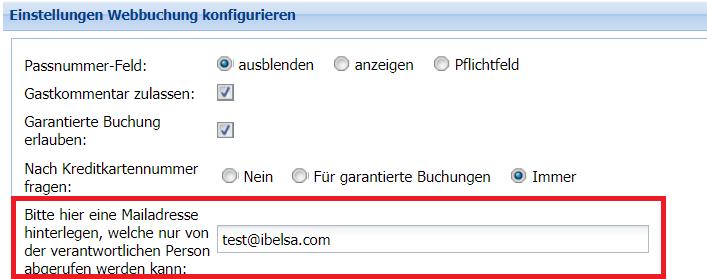 ibelsa Hotelsoftware FAQ Kreditkartenabfrage in der Webbuchung